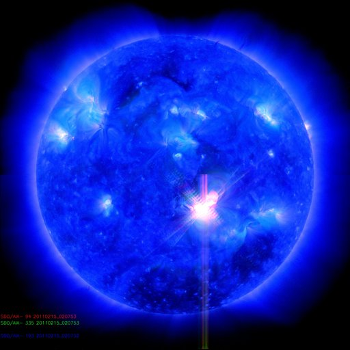 SDO image of the X 2.2 flare. NASA