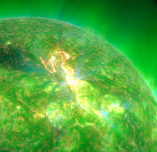 SDO image of the M 8.7 flare. NASA