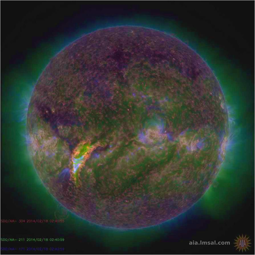 SDO image of the Sun. Image NASA/SDO