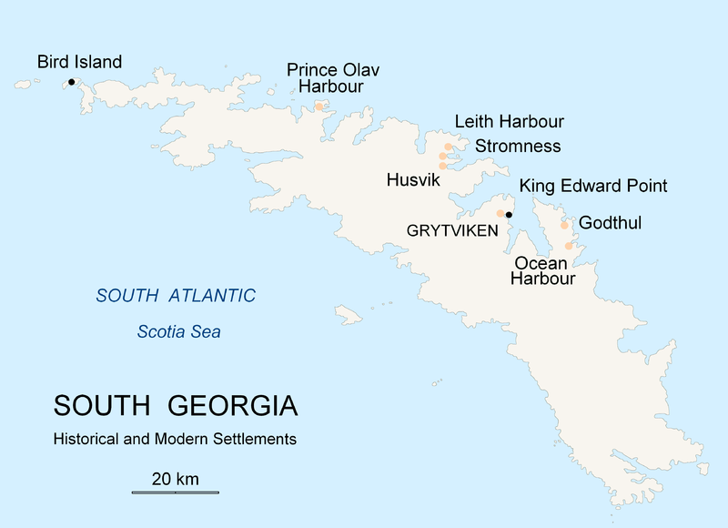 Map Of Georgia Islands.King Edward Point Magnetic Observatory