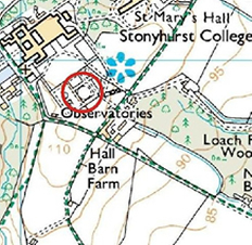 Map of Stonyhurst Observatory Location