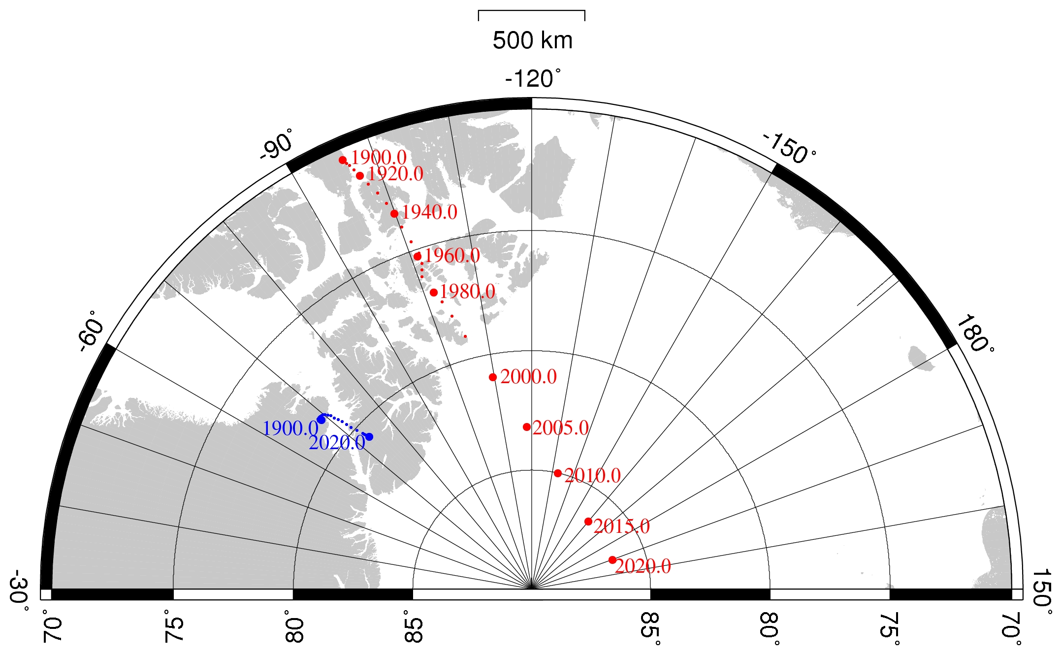 North Magnetic Pole Location 2014